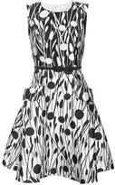Carolina Herrera wheat print flared dress - women - Silk/Cotton - 4
