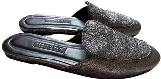NewbarK Metallic Leather Flats