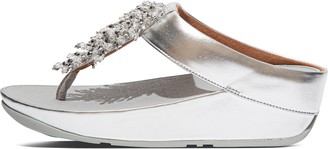 FitFlop Rumba Beaded Toe-Post Sandals