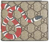 Gucci GG Supreme snake wallet - men - Calf Leather - One Size
