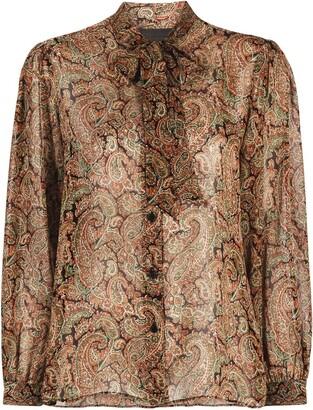 Nili Lotan Paisley Print Silk Shirt