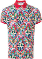 Etro mixed print polo shirt