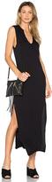 C&C California Dawna Slit Maxi Dress in Black