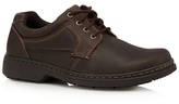 Hush Puppies Brown Leather Lace Up Shoes