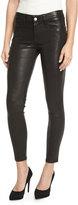 Frame Le Skinny Leather Pants, Washed Black