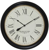 Infinity Instruments Paris Clock- Wood/Black