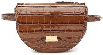 Wandler Anna Big croc-effect leather belt bag