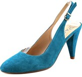 Paco Gil P-1863 Women Round Toe Suede Blue Slingback Heel.