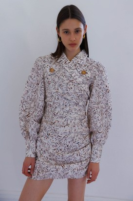 C/Meo ENCASED DRESS Vanilla Marble