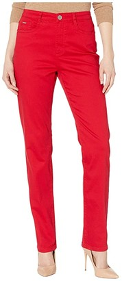 FDJ French Dressing Jeans Sunset Hues Denim Suzanne Straight Leg in Red (Red) Women's Jeans