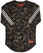 Haus of JR Camouflage Stretch-Jersey T-Shirt-BLACK