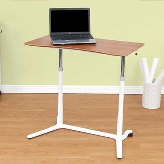 Studio Designs Sierra Height Adjustable Standing Desk Color: Cherry/White