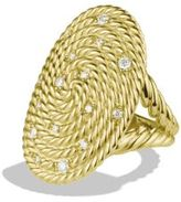 David Yurman Cable Coil Ring with Diamonds in Gold