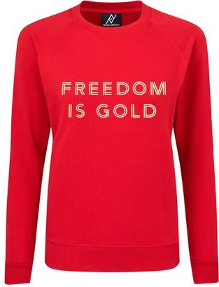 Angelika Jozefczyk Freedom Is Gold Red Sweatshirt