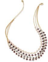 INC International Concepts Gold-Tone Multi-Row Beaded Necklace, Only at Macy's