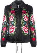 P.A.R.O.S.H. floral embroidered hooded jacket