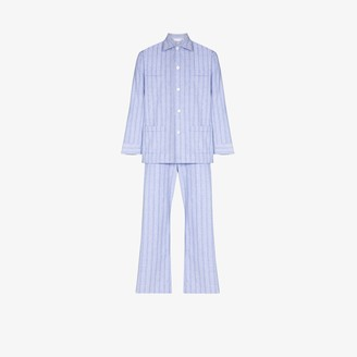 Derek Rose Arran striped cotton pyjamas