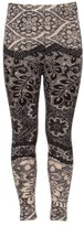 Expert Design Girl's Light and Dark Contrast Floral Pattern Print Leggings - L/XL