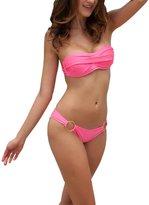 Maxhaha Women's Push up Padded Bra Bikini Set
