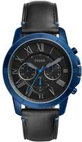 Fossil Men's 'Grant Sport' Quartz Stainless Steel and Leather Casual Watch, Color: (Model: FS5342)