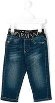 Armani Junior logo waistband jeans - kids - Cotton/Spandex/Elastane - 18 mth