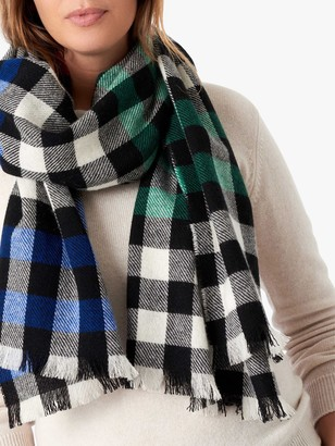 Brora Cashmere Gingham Scarf, Patchwork