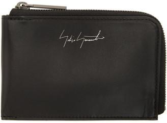 Yohji Yamamoto Black Signature Logo Wallet