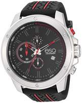 ESQ Men's Chronograph Watch w/ Black and Red Silicone Strap FE/0192