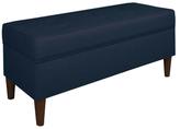 Skyline Furniture Button Tufted Storage Bench