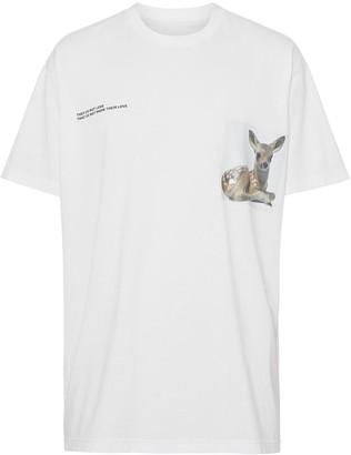 Burberry Montage Print Cotton T-shirt