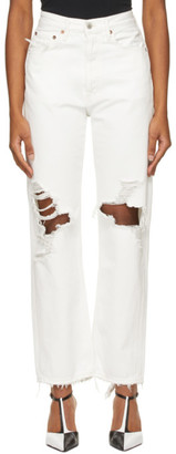 AGOLDE White 90s Mid-Rise Loose Jeans