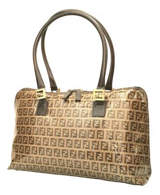 Fendi Roll Bag Brown Patent leather Handbags