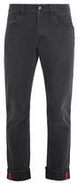 Gucci Web-striped slim-leg jeans