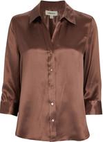 L'Agence Dani Silk Button Down Shirt