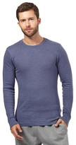 Maine New England Blue Brushed Thermal Long Sleeved Top