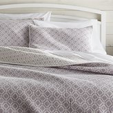 Crate & Barrel Raj Reversible Purple Quilts and Pillow Shams