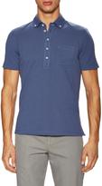 Brunello Cucinelli Men's Button-Down Collar Polo Shirt