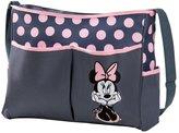 Disney Minnie Mouse Polka Dot Hobo Diaper Bag, Gray/Pink