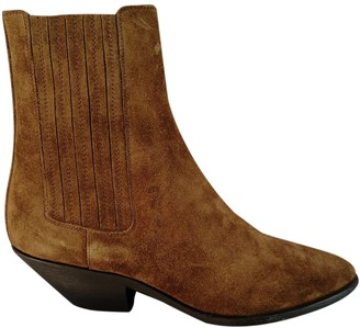 Saint Laurent West Chelsea Brown Suede Ankle boots
