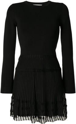 Alexis Iris pleated mini dress