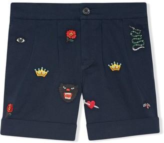 Gucci Kids Children's embroidered bermuda short