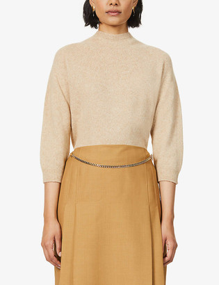 Max Mara Campo high-neck wool and camel-blend jumper
