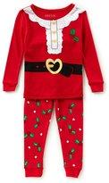 Komar Kids Little Girls 2T-4T Christmas Holly Top & Pants Pajama Set