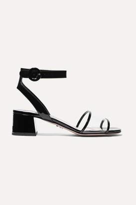 Prada 45 Patent-leather And Pvc Sandals - Black