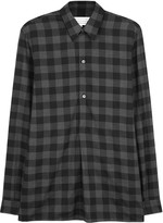 Maison Margiela Charcoal Checked Cotton Shirt
