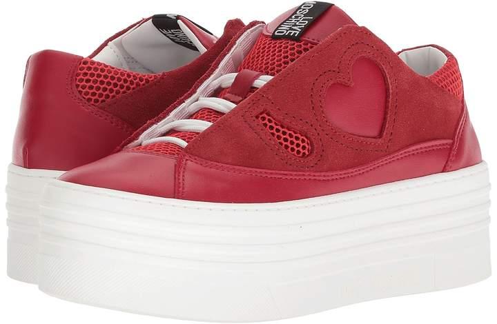Love Moschino Suede Platform Sneaker