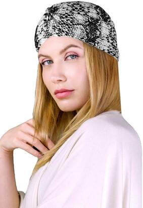 Just Jamie Snake Skin Print Turban
