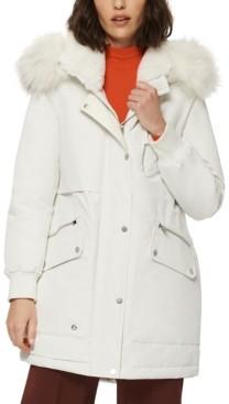 Andrew Marc Carina Faux-Fur-Trim Hooded Parka Coat
