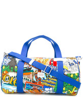 Dolce & Gabbana Italia print bag - kids - Calf Leather/Polyamide/Spandex/Elastane - One Size