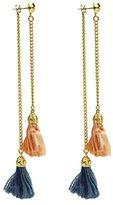 Ben-Amun Women's 24k Gold Plated Multicolour Venetian Breeze Long Chain Tassel Drop Earrings